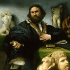 Lorenzo Lotto, Ritratto di Andrea Odoni, 1527, Olio su tela, 101 × 114 cm, Londra, Buckingham Palace, Royal Collection of the United Kingdom