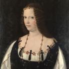 Bartolomeo Veneto (1502 - 1555), Ritratto di gentildonna, Presunto ritratto di Lucrezia Borgia, 1520-1530 circa, Londra, National Gallery