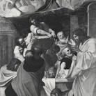 Apostoli intorno al sepolcro della Madonna colmo di fiori