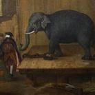 Pietro Longhi, L'Elefante, 1774, Olio su tela, 62 x 50.1 cm, Collezione Intesa Sanpaolo Gallerie d'Italia - Palazzo Leoni Montanari, Vicenza