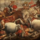 Emilio Isgrò per la Battaglia di Anghiari di Leonardo Da Vinci