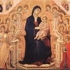 Duccio di Buoninsegna, Maestà del Duomo di Siena, 1308 - 1311. Tempera su tavola, cm 211×426. Museo dell'Opera Metropolitana del Duomo, Siena