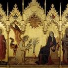 Simone Martini e Lippo Memmi, Annunciazione tra i Santi Ansano e Margherita, 1333, Tempera e oro su tavola, 305 x 265 cm, Firenze, Galleria degli Uffizi