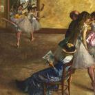 Edgar Degas, La classe di danza, 1880 circa, Olio su tela, 76.8 x 82.2 cm, Philadelphia Museum of Art, Acquistato con il W. P. Wilstach Fund, 1937