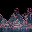 Wang Guangyi, The Last Supper (New Religion), 2011, Olio su tela, 1600 x 400 cm | Courtesy of the Artist and Fondazione Stelline, Milano