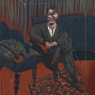 Francis Bacon, Seated Figure, 1961, Olio su tela | © The Estate of Francis Bacon | all rights reserved by SIAE 2019 | Foto: © Tate London | Courtesy of Chiostro del Bramante, Roma