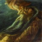 Gaetano Previati, Paolo e Francesca, 1909, Olio su tela, 230 x 260 cm, Ferrara, Museo dell'Ottocento