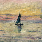 Claude Monet (1840 - 1926), Barca a vela. Effetto sera, 1885, Olio su tela, 54 x 65 cm Parigi, Musée Marmottan Monet, Lascito Michel Monet, 1966, Inv. 5171 | © Musée Marmottan Monet, Académie des Beaux-Arts, Paris