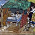 Marc Chagall, La festa dei tabernacoli (Sukkot), 1916 circa. Gouache e acquerello su carta, cm 52,2x66,5. Dono di Arnold e Dorothy Neustadter, Palm Beach, all'American Friends of the Israel Museum © Chagall ® by SIAE 2 015