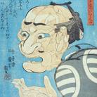 Utagawa Kuniyoshi, Fa paura ma è veramente una buona persona (Mikake wa kowai ga tonda ii hito da), Circa 1847, Silografia policroma (nishikie), 24.9 x 36.8 cm, Masao Takashima Collection