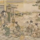Kitagawa Utamaro, Beltà cinesi a un banchetto, 1788-1790 circa, Silografia policroma, 38.2 x 75.8 cm, Honolulu Museum of Art | Courtesy of Palazzo Reale, Milano 2016