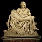 Michelangelo Buonarroti, La Pietà, 1497-1499. Scultura in marmo, cm 174 x 195 x 69. Basilica di San Pietro in Vaticano
