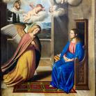 Giovan Battista Salvi detto il Sassoferrato, Annunciazione, Olio su tela, 186 x 266 cm, Casperia (RI), Chiesa di Santa Maria Annunziata