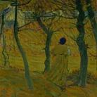 Cuno Amiet, Ragazza bretone sotto gli alberi (Bretonin unter Bäumen), 1893, Olio su cartone, 53 x 64 cm, Collezione privata
