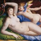 Venere, Cupido e Satiro