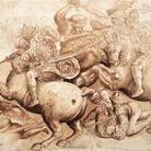 Tracce di colore dall'affresco di Leonardo