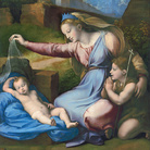 Raffaello Sanzio, Madonna del Diadema Blu, 1510-1512, Olio su tavola, 44 x 68 cm, Museo del Louvre, Parigi