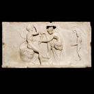 Satiri e menadi, pannello in marmo, Dalla Casa dei Rilievi dionisiaci, Ercolano, 1 secolo dC. © Soprintendenza Speciale per i Beni Archeologici di Napoli e Pompei