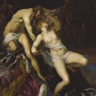Tintoretto, Tarquinio e Lucrezia, 1578 - 1580 circa, Olio su tela, 152 x 175 cm, The Art Institute of Chicago, Art Institute Purchase Fund