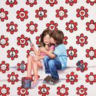 Sabrina Rocca, Love peace smile, 2015, Acrilico su tela, 100 x 100 cm | Courtesy of Sabrina Rocca