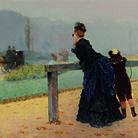 Giuseppe De Nittis, Al Bois, 1873, Olio su tela, 30 x 20 cm | Courtesy Archivi Boldini-De Nittis-Zandomeneghi