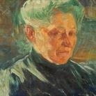Umberto Boccioni, Ritratto della madre, 1907, Olio su carta applicata su tela, 50.5 x 34 cm, Galleria d'Arte Moderna-Collezione Grassi, Milano