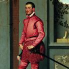 Giovan Battista Moroni, Il cavaliere in rosa, 1560, Olio su tela, 216x123 cm, BergamoFondazione Museo di Palazzo Moroni
