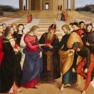 Raffaello Sanzio, Sposalizio della Vergine, 1504, Olio su tavola, 170 × 118 cm, Milano, Pinacoteca di Brera