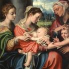 Giorgio Gandini del Grano, Madonna col Bambino e san Giovannino fra le sante Maria Maddalena ed Elisabetta, 1529 circa, Olio su tela, 68 x 81 cm, Galleria Nazionale di Parma