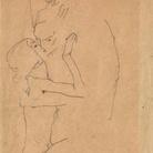 Egon Schiele (1890 - 1918), Il Bacio, 1911, Grafite su carta