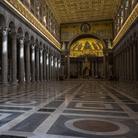Navata della Basilica di San Paolo fuori le Mura a Roma, Immagine tratta dal film