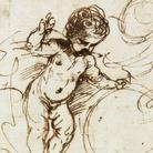 """Giovanni Francesco Barbieri, detto il Guercino (Cento, 1591 - Bologna, 1666), Putto """"Salvator mundi"""", 1640-1650 circa, Inchiostro su carta, Cento, Pinacoteca Civica"""