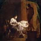 Joseph Wright of Derby, Penelope disfa la tela alla luce di una candela, 1783, Olio su tela, Los Angeles, J. Paul Getty Museum