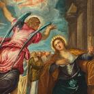 Jacopo Tintoretto (1519 - 1594), L'Angelo annuncia il martirio a Santa Caterina d'Alessandria (Il Tintoretto di David Bowie), 1560-1570, Olio su tela, 99.30 x 177.10 cm,Anversa, In prestito alla Rubenshuise | © Collezione privata | Foto: Bart Huysmans & Michel Wuyts