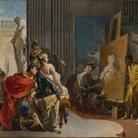 Giovanni Battista Tiepolo, Alessandro e Campaspe nello studio di Apelle, 1725-1730, Olio su tela, 84.2 x 57.4 cm | Courtesy © The Montreal Museum of Fine Arts, Adaline Van Horne Bequest | Foto: © MMFA, Christine Guest