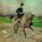 Giovanni Boldini, L'amazzone, 1878, Olio su tavola, 59 x 69 cm, Milano, Galleria d'Arte Moderna