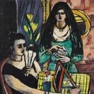 Max Beckmann, Ragazze in nero e verde (Due donne spagnole), 1939 olio su tela 127 x 116 cm Collezione privata © 2018, ProLitteris, Zurich