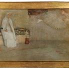 Giulio Bargellini, Annunciazione, 1901, Olio su tela incollata su tavola, 126 x 77 cm, Firenze, Collezione privata