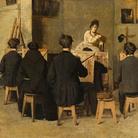 Giacomo Favretto, La scuola di pittura, 1871.