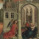 Robert Campin, Annunciazione, Trittico di Mérode, 1428, New York, Metropolitan Museum of Arts