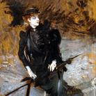 Giovanni Boldini, Ritratto della signora Enrichetta Allegri, 1894-1895. Olio su tavola, 34,5 x 26,5 cm