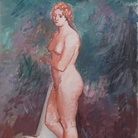Achille Funi, Nudo di donna, 1930, Olio su tela, 59 x 71 cm
