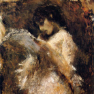 Tranquillo Cremona, La lettrice, 1873-1878. Olio su tela, 105 x 85 cm