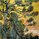 Vincent van Gogh, Pini al tramonto, 1889, Olio su tela, 91.5 x 72 cm, Otterlo, Kröller-Müller Museum