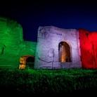 Caracalla si illumina con il tricolore