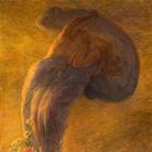 Gaetano Previati, Il sogno, Bozzetto, 1912, Olio su tela, 225 x 165 cm, Collezione privata