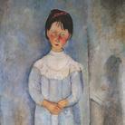 Amedeo Modigliani (Livorno,1884 - Parigi, 1920), Bambina in abito azzurro, 1918, Olio su tela, 73x 116 cm, Collezione Jonas Netter