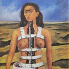 Frida Kahlo, La colonna spezzata, 1944, Olio su tela incollato su masonite 30.5 x 40 cm, Museo Dolores Olmedo, Messico, Video-Proiezione animata, Banco de M.xico Diego Rivera & Frida Kahlo Museums Trust, M.xico D.F.