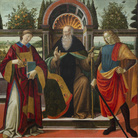 La tavola di Sant'Antonio abate torna nella Basilica di san Lorenzo dopo un complesso restauro