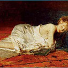 Giovane donna dormiente
